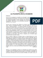 La Filosofía en El Ecuador