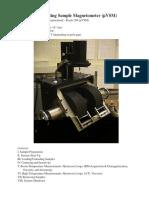 MicroMag Vibrating Sample Magnetometer (μ  μ VSM)