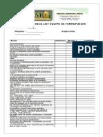 Check List Maquina de Termofusion
