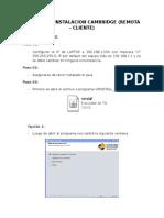 Manual de Intalacion Cambridge Remoto