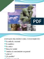 6. El Conocimiento - Enfoque Filosófico