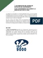 UNIDAD 5.- DOCUMENTACIÓN DEL SISTEMA DE ADMINISTRACIÓN DEL MANTENIMIENTO
