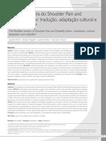 Versão brasileira do Shoulder Pain and Disability Index- tradução, adaptação cultural e confiabilidade