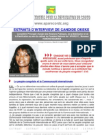 EXTRAITS D'INTERVIEW DE CANDIDE OKEKE