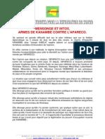 MENSONGE ET INTOX, ARMES DE KANAMBE CONTRE L'APARECO.