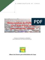 Mémorandum de l'APARECO aux Chefs d'Etats et de gouvernements africains