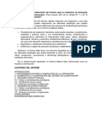 Lineamientos Para La Elaboración Del Informe Para La Evaluación de Elementos Estructurales y No Estructurales