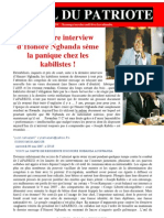 Interview d'Honoré Ngbanda