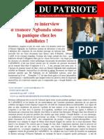 Interview d'Honoré Ngbanda