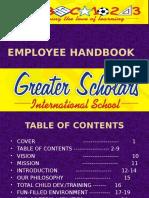 Updated Employee Handbook 2015
