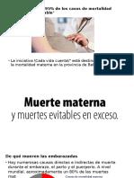 Presentacion Muerte Materna Evitada 2017