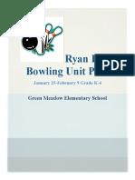 Bowling Unit Plan Revised