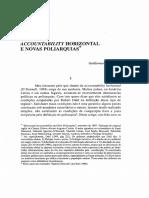 O_DONNELL Accountability Horizontal e Novas Poliarquias
