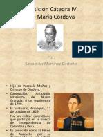 Unidad 4 José María Córdova - Sebastián Martínez