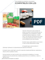 Alimentos Incompatibles Con Los Antibioticos - Barcelona Alternativa