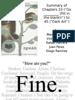 Speak Chapters 23 to 45 (1)