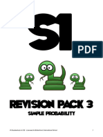 s1 Revision Pack 3 - Simple Probability