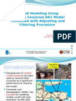 Rainfall Modeling Using Bayesian Seasonal AR1 Model Combined Between Adjusting and Filtering Procedure