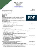 maranda carter resume