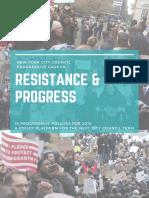 2017 04 Xx NYC Progressive Caucus. Pc Platform 18 for 2018