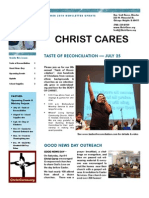 Christ Cares Christian Ministry Summer Update