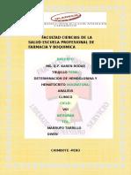 Facultad Ciencias de La Salud Escuela Profesional de Farmacia y Boquimica