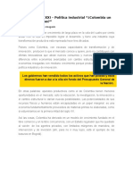 Colombia Siglo XXI - Política Industrial