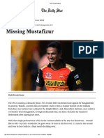 Missing Mustafizur