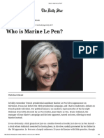 Who is Marine Le Pen