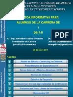 Platica Informativa Semestre 2017-II-20 Enero 2017-Auditorio Marsal