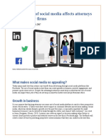 How the Use of Social Media Affects Attorneys and Their Law Firms