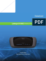 Linksys E1000 Wireless-N Router Datasheet
