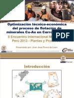 Optimizacion Tecnico Economica en Flotacion Cerro Corona