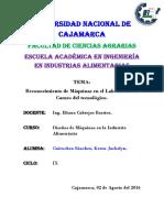 Practica n 2 Reconocimiento de Equipos y Maquinasa en El Laboratorio de Carnes Del Tecnologico.