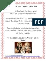 Oración San Joaquín y Santa Ana