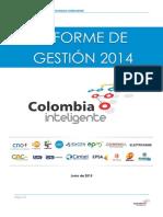 Informe de Gesti%C3%B3n Colombia Inteligente 2014 Web