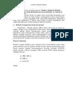 Analisis Regresi Spasial