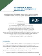 Bioetica 3.4 Declaracion Helsinki 2013 Esp