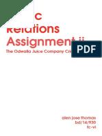 Alen Jose Thomas_pr Assignment Ii_The Odwalla Juice Company Crisis