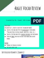 maniac magee vocab review