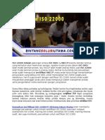 ISO 22000 Versi Terbaru | Konsultan ISO | Wa +62 857 1027 2813