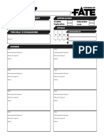 1 Page Adventure Template FF