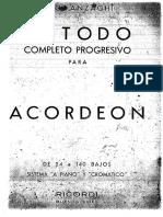 Anzaghi Metodo Completo Progressivo Para Acordeon