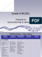 Grade 9 MUSIC Lesson Outline