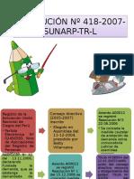 Resolución Nº 418-2007  SUNARP-TR