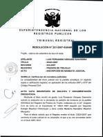 Res. N° 251-2007 SUNARP-TR (Calificación Mandato Judicial)