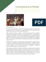 Zenobio Saldivia. en Torno a La Enseñanza de La Filosofía