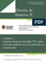 Unidad 6 América Ad Portas Del Siglo XX (Avances)