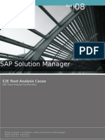 Sap Solution Manager - E2E - Trace Analysis Functionality