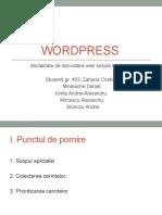 Wordpress Prezentare Gr453